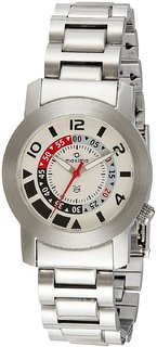Maxima Analog White Dial Unisex Watch-04820CMGS