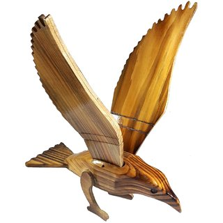 Antique Symbolic Carved Wooden Eagle for Decoration-23x30x15 CM