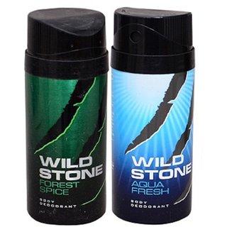 WiLD STONE Forest Spicy  Aqua Fresh (each 150ml) Pack of 2
