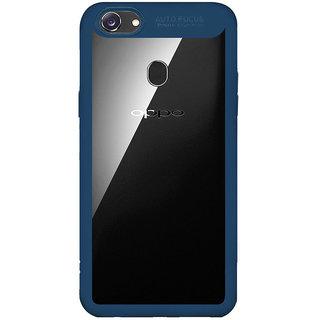 e11941a581e740 Oppo F5 Case, PC + TPU Ultra-Thin Hybrid Hard Protect Case Shock Absorption  Transparent Clear Bumper Cover - Blue