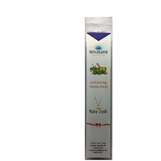 Musk perfumed 9 inch Flora / Masala incense sticks in transparent square box