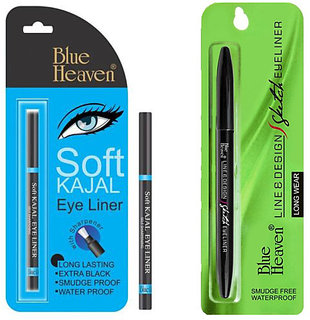 Blue Heaven (Line  Design Sketch Eyeliner)  (Soft kajal) Long Lasting combo