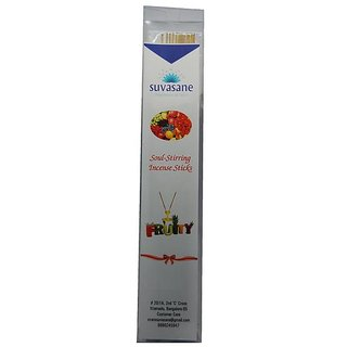 Fruity perfumed 9 inch incense sticks in transparent square box