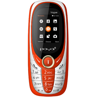 Poya Vogue (Dual sim,1.8 inch display, 1000 MAH battery,3.5 MM Audio Jack,0.3 MP Digital Camera)Red