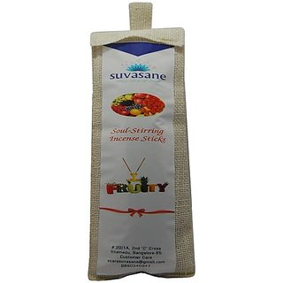 Fruity perfumed 9 inch incense sticks in Jute bag