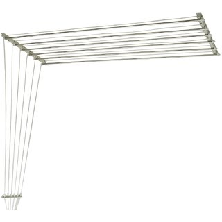 BEST ONE Ceiling Clothes Hanger with Individual Dropdown Railer Stainless Steel Rust Proof Roof Mount 7 feet with 6 pipes (21 inches x 84 inches)