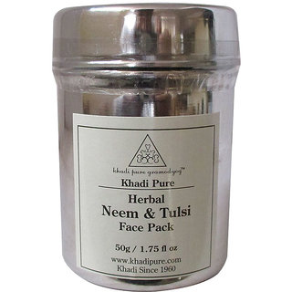 Khadi Pure Herbal Neem  Tulsi Face Pack - 50g