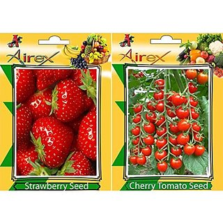Airex Strawberry And Cherry Tomato (Pack Of 25 Seeds * 2 Per Packet)