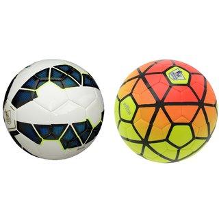 Buy Premier League Blue White Football (Size-5) + Ordem Pitch Orange ... e669a92919cd3
