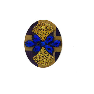 Anuradha Art Rama-Green Colour Very Classy Stylish Designer Saree  Pin/Brooch For Women/Girls