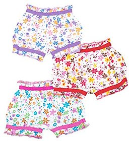 New Design Soft  Comfortable Baby Girls' Bloomers (Pack of 3) pcs