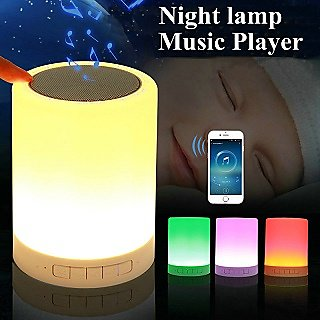 LED Portable Wireless and Multi Color Smart Touch Sensor and Music Player- Lamp