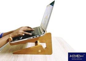 Jaamsoroyals Detachable Laptop Vertical Holder, Modern Folding Wooden Desktop Stand for Macbook Air or Pro