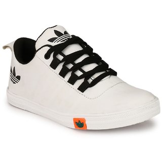 buy cyro men's white synthetic leather casual shoes online