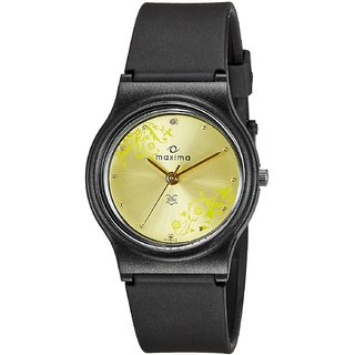 Maxima Analog Gold Dial Womens Watch - 03433PPLW
