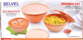 selvel Round microwave safe plastic Bowl