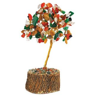Feng Shui Multi Color Stone Tree
