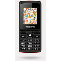 Karbonn K17 Rock Dual SIM Basic Phone (Black Red)