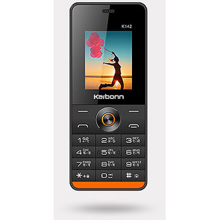 Karbonn K142 Dual SIM Basic Phone (Black-Red)
