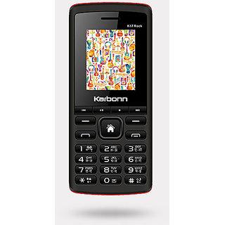 Karbonn K17 Rock Dual SIM Basic Phone (Black Red)