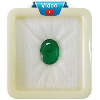 Fedput 5.25 Ratti Emerald ( PANNA STONE ) 100  ORIGINAL CERTIFIED NATURAL GEMSTONE AAA QUALITY