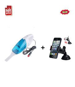 SSZ New Best Quality 12- V Portable Car Vaccum Cleaner Dry  Wet -Vacuum Cleaner With Car Universal Holder