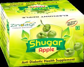 Zindagi Shugar Apple - Natural Health Supplement - Sugarfree Food Supplement 600gm