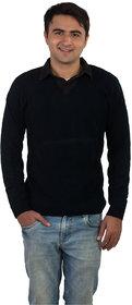 Modo Vivendi Winter Woolen Plain Blue Sweater For Men  Stylish Best Designer Winter Woolen Sweater For Men