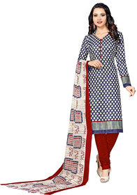 Drapes womens  Multicolor Cotton Printed Dress Material (UnStitched) DF1942