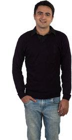 Modo Vivendi Winter Woolen Plain Purple Sweater For Men  Stylish Best Designer Winter Woolen Sweater For Men