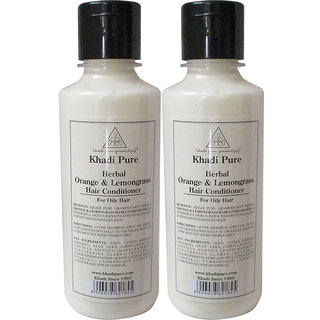 Khadi Pure Herbal Orange  Lemongrass Hair Conditioner - 210ml (Set of 2)