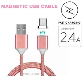 SG Tech Magnetic Micro USB charging cable for All Android (Ultra strong Fast Charging 2.4Amp  Sync)