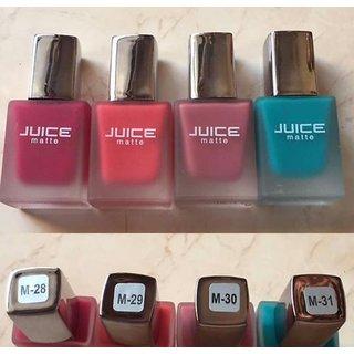 Juice Matte Nail Paints Set Of 4 M28 M29 M30 M31