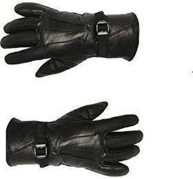 Stonic New Black Solid Winter Unisex Glove