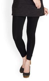 Full Length Cotton Lycra Leggings Black (FREE SIZE 28-36) WAIST