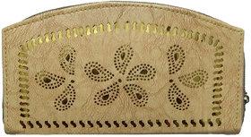 ARD Women's Trendy Zipper Type Clutch(Beige)
