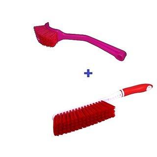 Carpet Cleaning 2 Brush Set with Hard  Long Bristles for Car Seat /Carpet /Mat