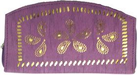 ARD Women's Trendy Zipper Type Clutch(Purple)