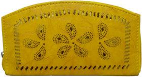 ARD Women's Trendy Zipper Type Clutch(Yellow)