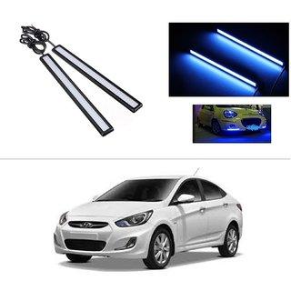 AutoStark Daytime Running Lights Cob LED DRL (Blue)- Hyundai Verna Fluidic