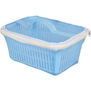 Rectangle Vegetables Fruit Basket with Cover ( Blue )