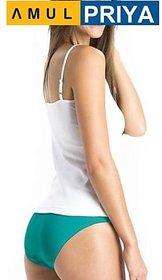 (PACK OF 3) PRIYA Cotton Hipster Ladies Plain Panty/Brief - Multi-Color