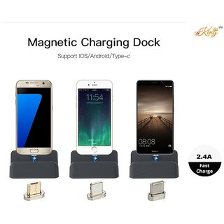 3 in 1 Magnetic USB Data Universal Charger Pro Connector Charging Station Dock Universal Charging Device