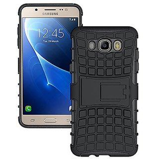 Samsung Galaxy J 7 Mobile Phone Defender Back Cover Case Kick Stand ( Black)
