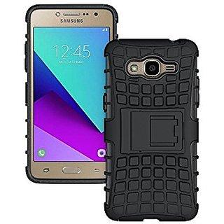 Samsung Galaxy J 2 J 210 Mobile Phone Defender Back Cover Case Kick Stand ( Black )