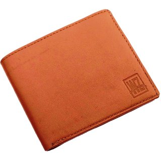 wallets for men in Tan color Genuine Leather 6 cards pockets(wenzest)