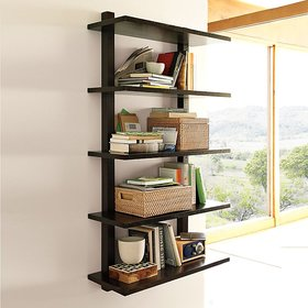 New Look 5 Tier Wooden Wall shelf Black