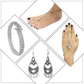 JewelMaze Set Of 4 Jewellery Combo-PAA1810