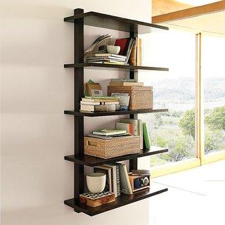 New Look 5 Tier Wooden Wall shelf Black