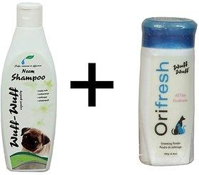 Wuff-Wuff Neem 200ml Shampoo and Orifresh Powder Combo